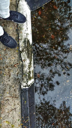 ZTEphotography ZTE AXON ZTE AXON 7 Ztefanphotography Reflection Shoe Real People Outdoors Water High Angle View Human Leg Human Body Part Nature Day One Person Nature Beauty In Nature Malaysian Culture Penang Photography Penang 3deffect Freshness Storm Cloud Intel Low Section