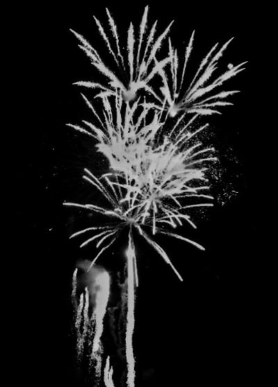 Firework Display Night No People Exploding Firework - Man Made Object Long Exposure Sky HDR Hdr_Collection Vscocam Pyrotechnics Pyromagic Celebration Blackandwhite Poland Szczecin VSCO