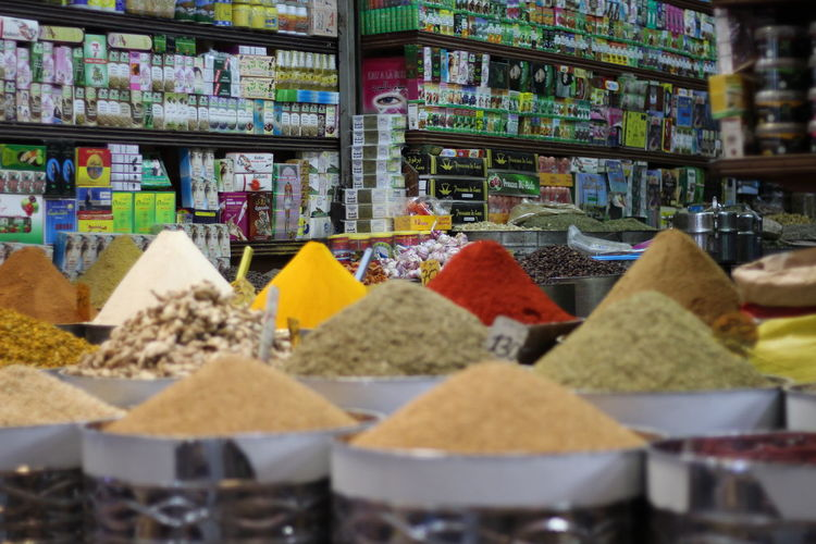 Agadir market Variation Choice Food And Drink Spice Food Large Group Of Objects Ingredient Selective Focus For Sale Abundance Market Retail  Container No People Freshness Multi Colored Retail Display In A Row Heap Store Business