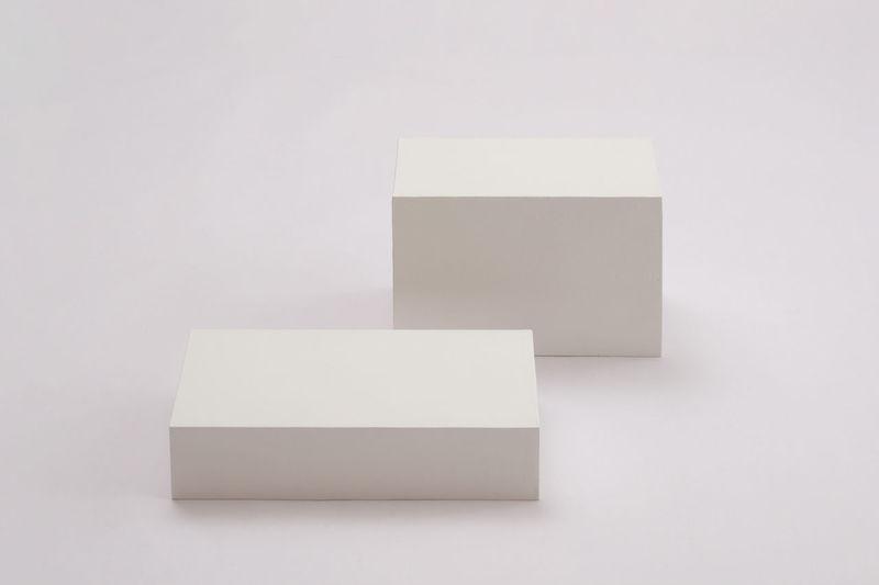 High angle view of white box