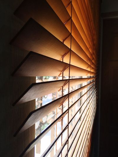 Looking thru the Blinds Blinds Shadows Woodenblind Noon Noontime  Window View Windowpane