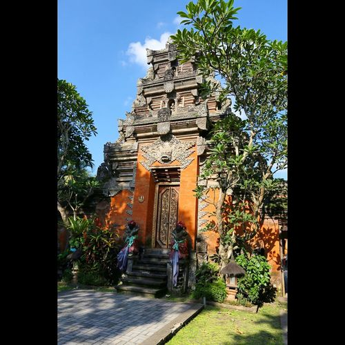 Architecture Bali Blue Built Structure Day Exterior Famous Place Footpath Green Color History Outdoors Place Of Worship Plant Religion Sky Spirituality Temple Temple - Building The Past Tree UNESCO World Heritage Site