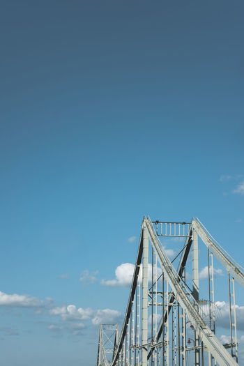 Gradient Minimalist Architecture Architecture Blue Bridge - Man Made Structure Built Structure Connection Day Low Angle View Minimal Minimalism Minimalist Photography  Nature No People Outdoors Simple Sky Suspension Bridge