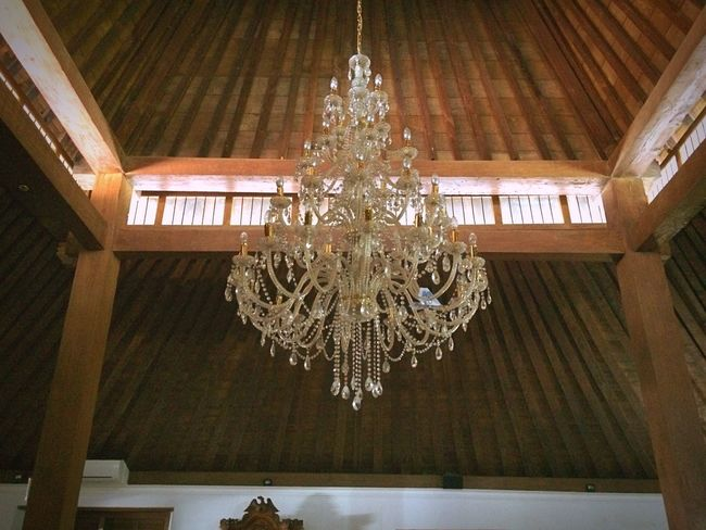 Interior lamp Ceiling Indoors  Luxury Lighting Equipment Low Angle View Hanging Wealth Home Interior Crystal Architecture Curtain Central Java,indonesia Mosques Of The World Lamp Light wood