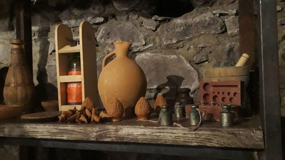 Rustic Shelf Wood - Material Bottle Close-up