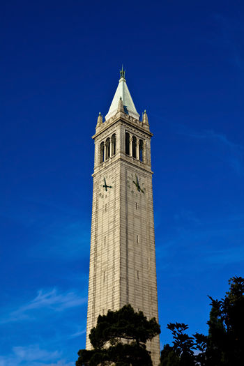 Architecture Blue Built Structure CA California Campanile College Day History Low Angle View Nature No People Outdoors Sky Tall Tall - High Tourism Tower Travel Destinations UC Berkeley Ucberkeley University University Campus