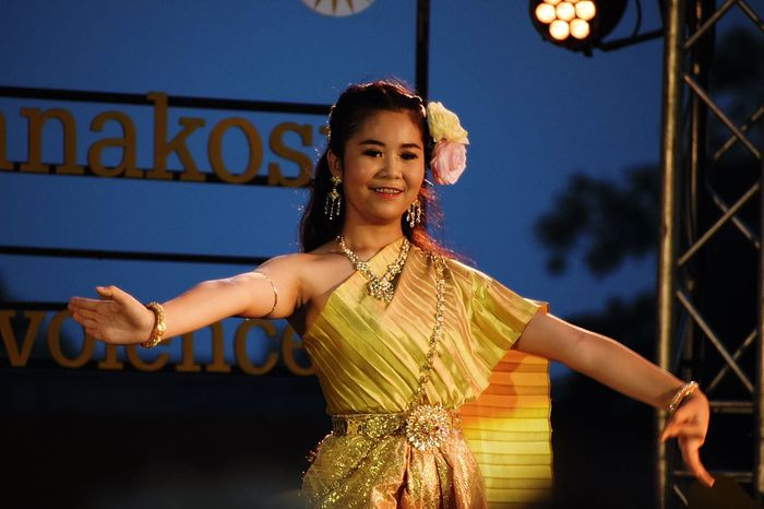 "Thai classical dancing in the event ""The 235th Year of Rattanakosin city under Royal Benevolence"" (Bangkok 235 years old), 24th April 2017, Bangkok City Hall Bangkok Dance Dancing Event Thai Costume Thai Dance Thai Dance Costume Thai Dancing Thailand Woman Costume Culture Girl Performance Women Young Adult"