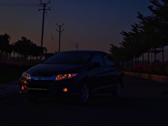 Honda City Car Transportation Mode Of Transport Stationary Sky Outdoors No People Land Vehicle Sunrise Honda Honda City Car