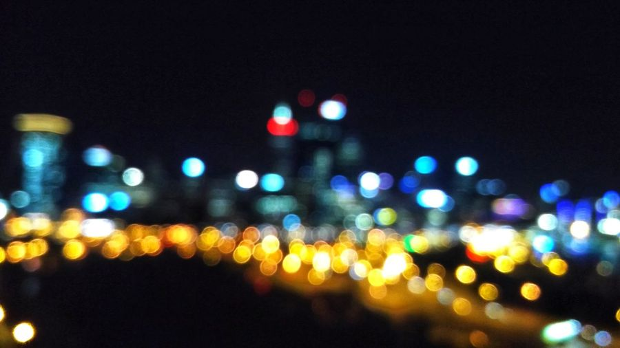 Creamy Handheld Nightphotography Kingsparkandbotanicgarden Perth Western Australia Blur Bokeh Phoneography Oneplustwo Illuminated No People City Outdoors Defocused Travel Destinations Cityscape