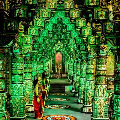 Ihithro Palace Set Mahabarat shooting RFC in hyderabad india epic mythology