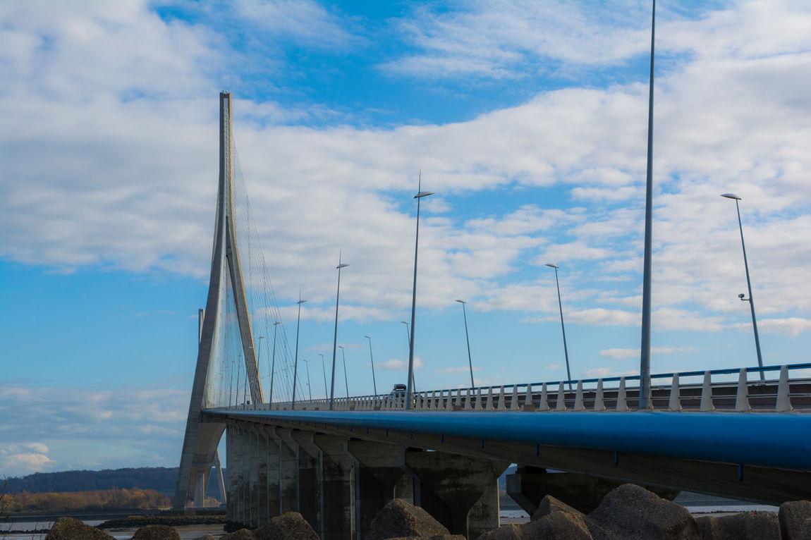 Architecture Bridge Bridge View Fleuve France Le Havre Normandie, France Normandietourisme Pont De Normandie River Seine