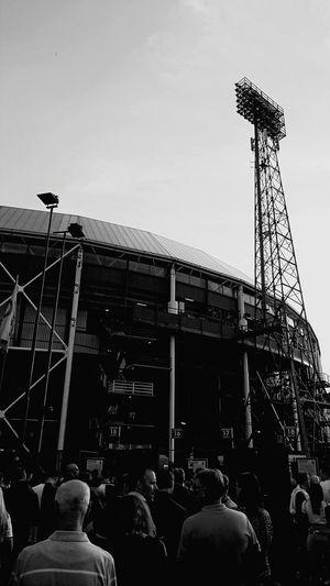 First match in De Kuip in season 2018 2019 Feyenoord (c) 2018 Shangita Bose All Rights Reserved Feyenoord Rotterdam De Kuip Rotterdam Stadium In Line Waiting In Line People Supporters Fans Feyenoord Stadium City Built Structure Architecture Sky