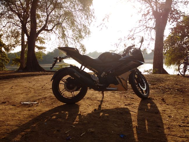 Check This Out Taking Photos Sunset Riverside Yamaha R15 Mobile Photography Let's Go. Together.