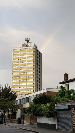 Architecture Outdoors Built Structure Business Finance And Industry Building Exterior City No People Day Cityscape Sky Dramatic Sky Raimbow Raimbow Color London