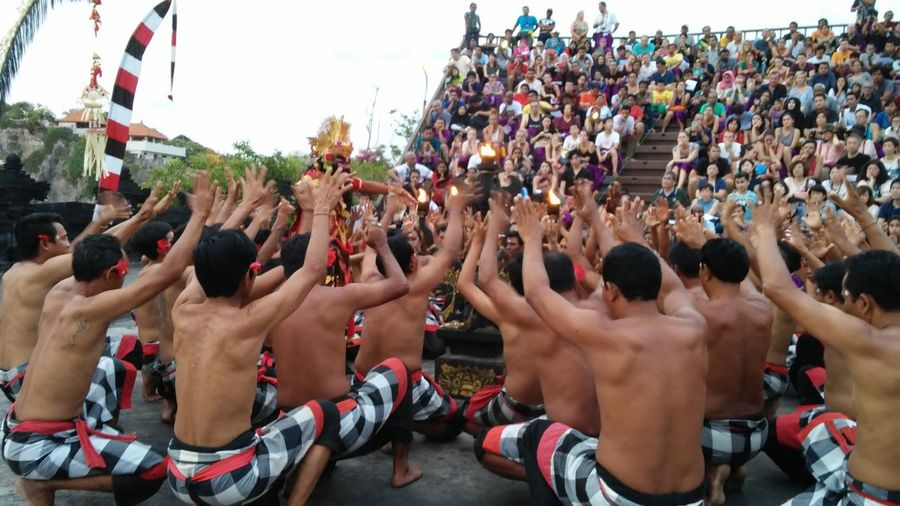 People performing ritual