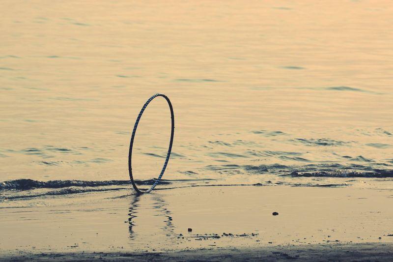 Beach Sea Ring Reflection No People Nature Flamingo