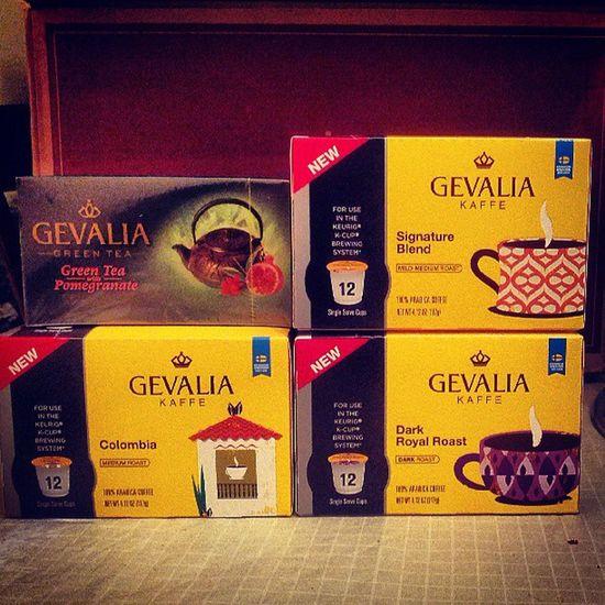 Gevalia k-cups (tea set not pictured) - only $14.99 Coffee Gevalia Kcups Goodcoffee Kuerig Greentea