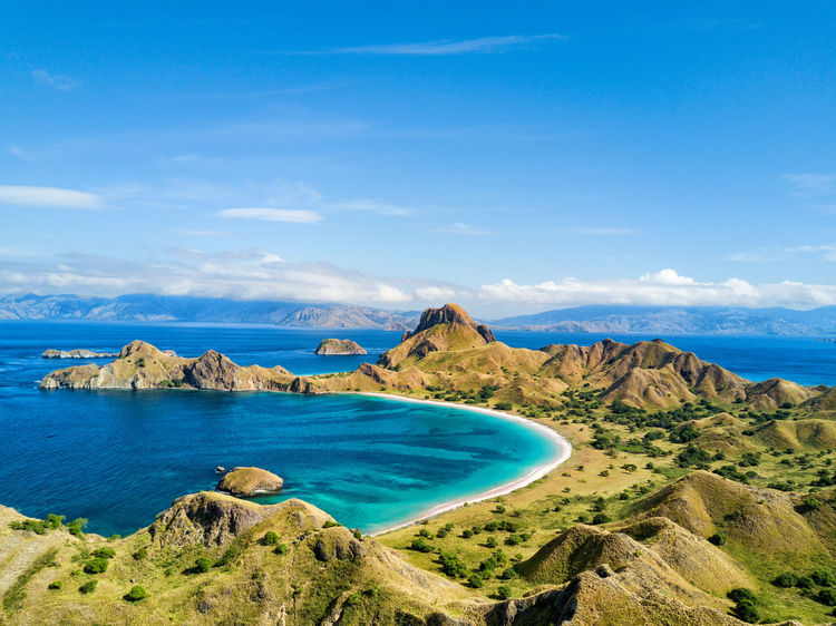 Aerial view of dramatic scenery on Pulau Padar island in between Komodo and Rinca Islands near Labuan Bajo in Indonesia. DJI X Eyeem DJI Mavic Pro Dragon Flores Island INDONESIA National Park Tourist Travel Travel Photography Aerial Aerial Photography Aerial View Destination Dji East Nusa Tenggara Flores Komodo Labuan Bajo Landscape Padar Pulau Rinca Tourism Tropical Vacation