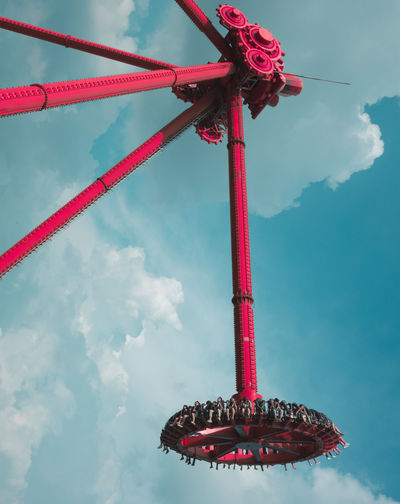 Amusement Park Amusement Park Ride Arts Culture And Entertainment Carousel Cloud - Sky Day Low Angle View No People Outdoors Red Sky Text Travel Destinations The Week On EyeEm