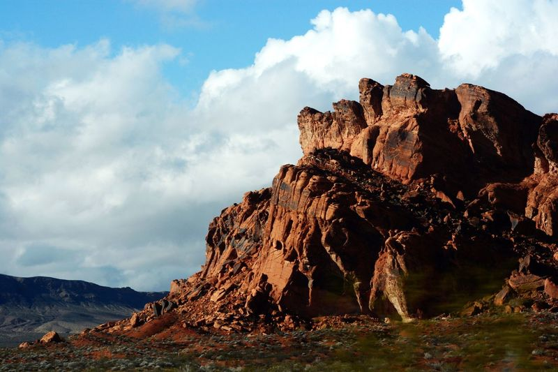 Rock Formation Nature Rock - Object Geology Beauty In Nature Nevada Tranquility Sky Mountain Landscape Day Scenics No People Outdoors Natural Arch