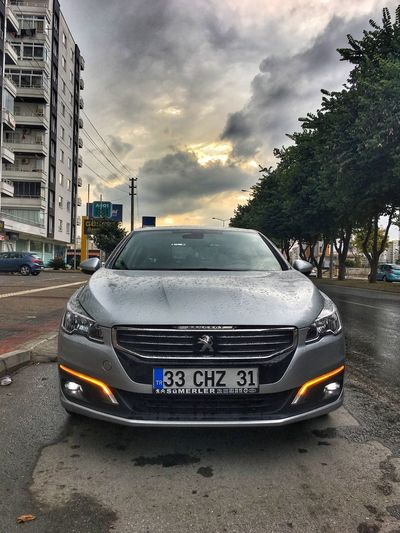 The Lion Lion Peugeot Peugeot508 Sunset Car Street City Transportation Land Vehicle Sky Architecture Cloud - Sky Outdoors Day