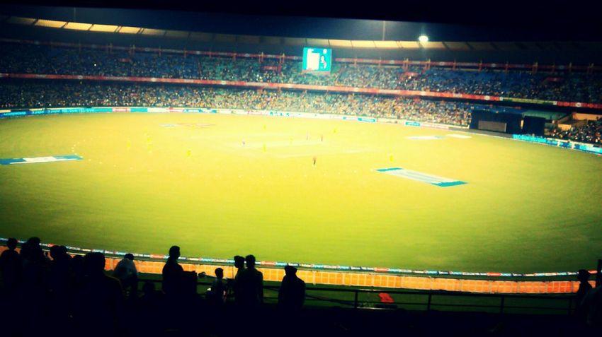Went to watch a Cricket Match Mycity Exploringindia Cricket IPLFever Raipur Stadium Crowd
