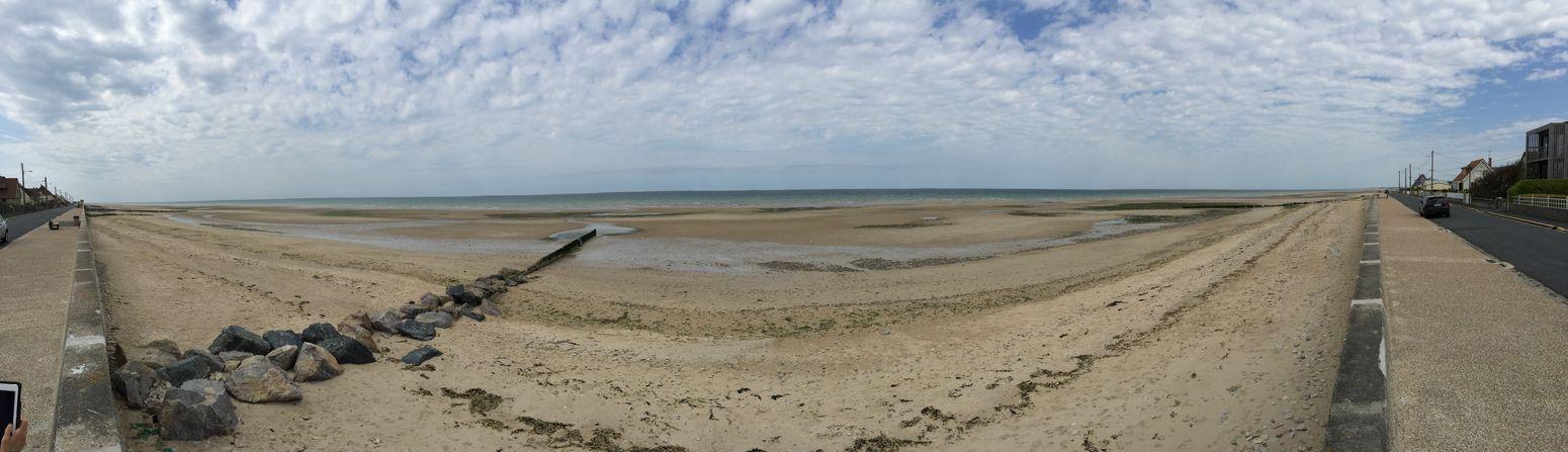 Des kilomètres de plage pour le débarquement Hello World Relaxing France Plage Normandie Omaha Military War Panorámica