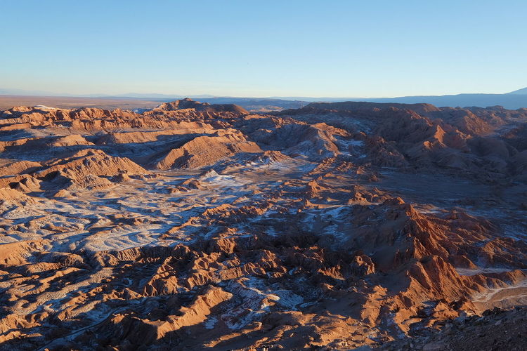 Valley of the Moon Landscape Outdoors Nature Mountain No People Sky Beauty In Nature Rock Formation Rock Sunset at San Pedro De Atacama , Chile