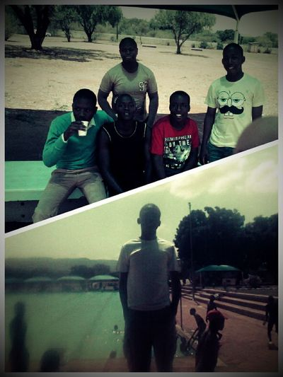 chilling with Dem homies