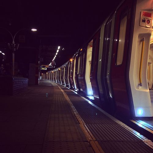 Waiting at the station Train Station Waiting London City Life