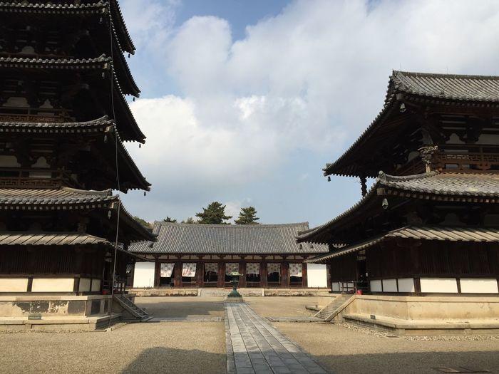 Nara,Japan Nara Temple Japanese  Japanese Culture Japanese Temple 法隆寺 (Horyuji Temple) Traveling