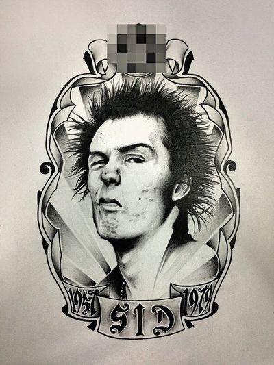Sid Vicious (John Simon Ritchie) 1957-1979 Tattoo Thunder Alley