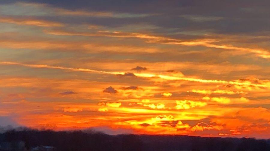 Sunset Martinsville, IN Sunset Cloud - Sky Sky Beauty In Nature Orange Color