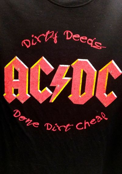 Acca/dacca Lightening Bolt Bandshirt Check This Out Taking Photos No People No People! AC~DC Rock'n'Roll Rock & Roll RockandRoll Music Band Rocknroll Rock Music Rock 'n Roll Dirty Deeds Dirty Deeds, Done Dirt Cheap Acdctshirt T Shirt Collection T Shirt Tshirt T-shirt For Those About To Rock, We Salute You Ac Dc  ACDC AC/DC Text Western Script Close-up