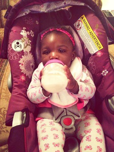 Holding Her Bottle