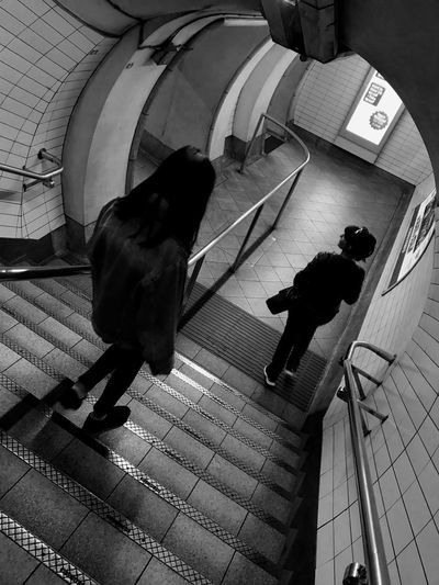 Postcode Postcards High Angle View London Underground Stairs