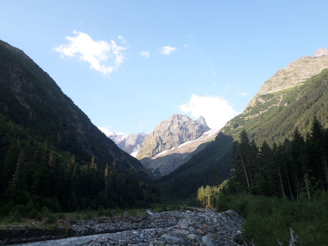 Beauty In Nature Mountain Mountain Range Non-urban Scene Outdoors Valley домбай КавказскийХребет Rocky Mountains Caucasian Mountains