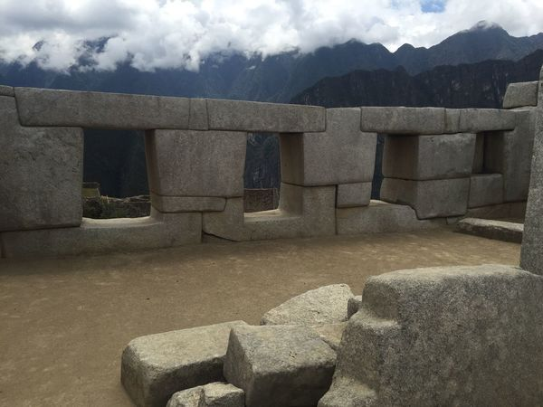 Sky Architecture Building Cloud Rock-object Mountain Cloudy Day Outdoors Nature Architectural Column Rocks The Past Travel Destinations Tranquility Peru Macchu Picchu Inca Ruins