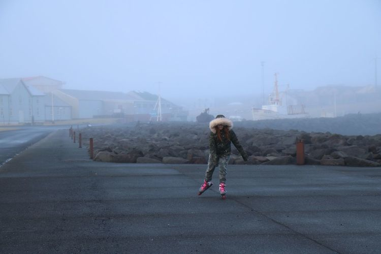 Fog One Person City Day Young Adult Outdoors Keflavik Iceland Teenage Girls Havingfun The Great Outdoors - 2018 EyeEm Awards