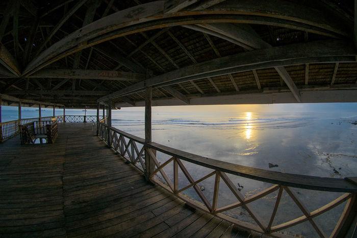 Meet me in the morning Siargao TheGreatOutdoors Sunrise Water Sea Sunset Beach Bridge - Man Made Structure Sky Architecture Built Structure Horizon Over Water