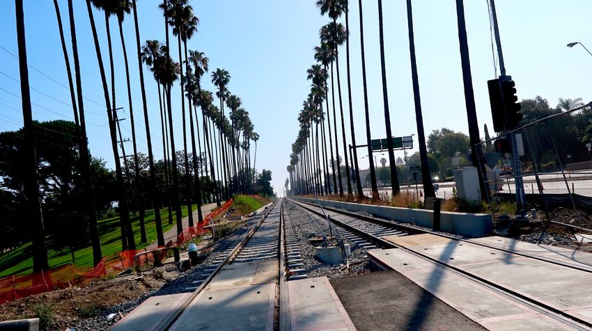 Railroad Track Transportation Rail Transportation Sky Day Tree No People Built Structure Outdoors Cable Architecture Clear Sky Nature Summer Road Tripping