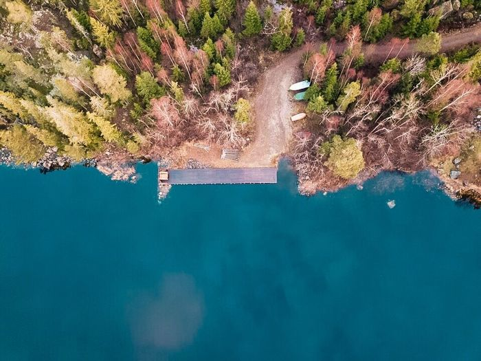 Water Beauty In Nature Nature Scenics Tranquility Outdoors No People Day Waterfront Lake Physical Geography Mountain Tree Sky Landscape From Above  Dji Nature Paradise On Earth Nature_collection