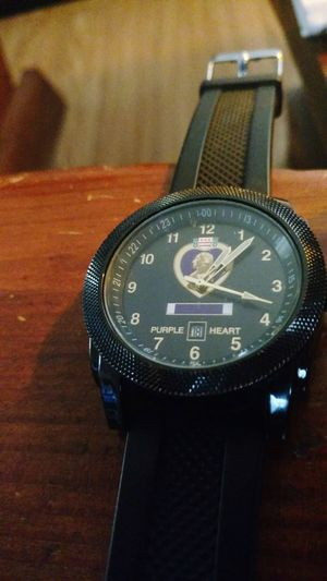 honor at all cost ,duty to God and county. Award Time! Color Photography Military Life Medal Of Courage Purple Heart Recipient Clock Face Minute Hand Time Clock Wristwatch Watch Communication Close-up Instrument Of Time #FREIHEITBERLIN
