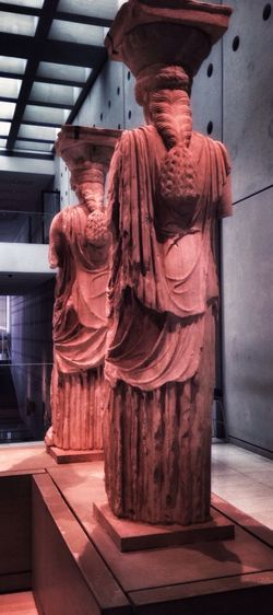 Two Is Better Than One Statue Sculpture Caryatid Caryatids AcropolisMuseum