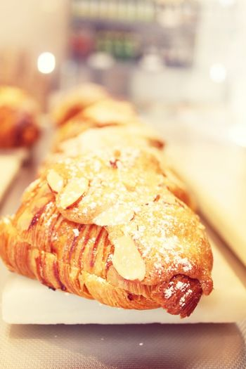 almond croissant Croissant Patisserie Boston Back Bay South End Display Almond Croissant French Pastry