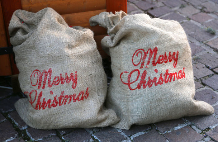 Christmas two large bags with the words Merry Christmas Big Bag Christmas Merry Christmas! Santa Claus Christmas Decoration Gift Gifts Merry Christmas