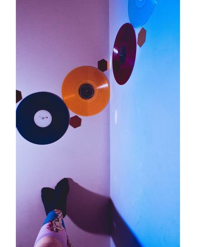 Records Purple Blue Hues Legs Birthofvenus Venus Lightroom Shadows Gradient Socks Female Moody EyeEmNewHere Interesting Perspectives Dreamy Bluehues Selfportrait Arts Culture And Entertainment