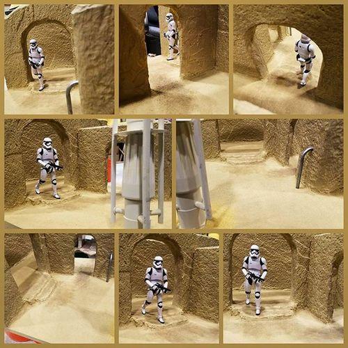 Sand, weathering and some props added to Sandtooine Almost done. Tatooine Starwarstoyfigures Starwars Starwarsblackseries Blackseries Starwarstheblackseries Ihatesand Moistureevaporators Moisturefarm Diorama