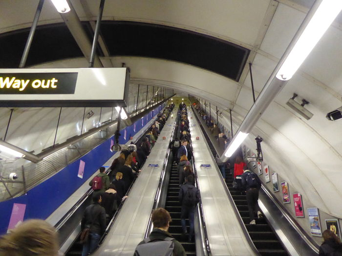 Architecture Brexit Vote Brexit Way Out! Built Structure Commuter Crowd Escalator Large Group Of People Moving Walkway  People Public Transportation Staircase Transportation Travel Up And Down Way Out For Brexit