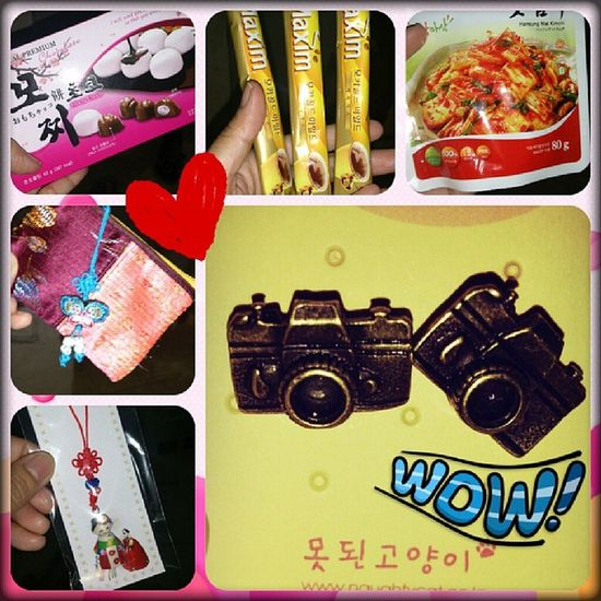 Happiness!!! From Korea with love ❤ Thank you so much for these gifts Jobel. Pasalubong Korea Sweetnessoverload ??????